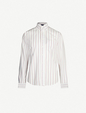 ETON Slim-fit striped cotton shirt