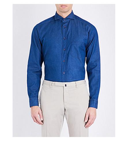 4fa6aae2d1 ETON Slim-fit denim shirt (Blue