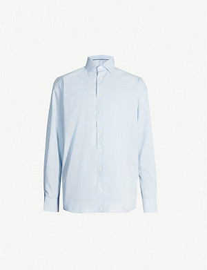 ETON Slim-fit striped cotton-twill shirt