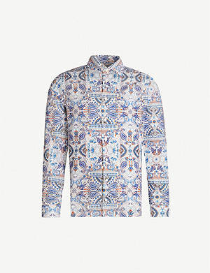 ETON Paisley-print super slim-fit cotton shirt
