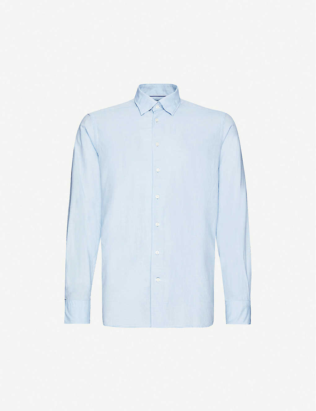 ETON: Slim-fit cotton and silk-blend shirt