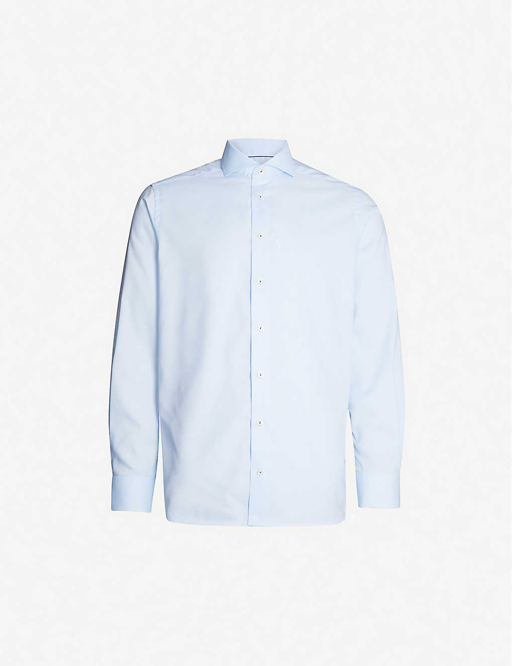 ETON: Striped contemporary-fit cotton-twill shirt