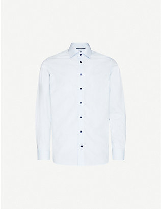 ETON: Striped contemporary-fit cotton-poplin shirt