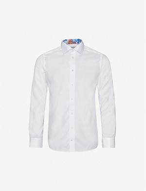 ETON Slim-fit cotton and lyocell-blend shirt