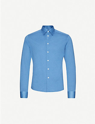 ETON: Slim-fit cotton polo top