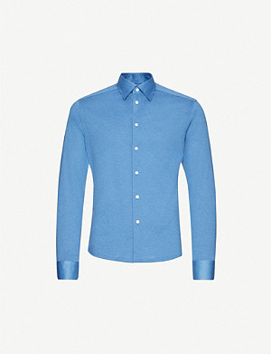 ETON Slim-fit cotton polo top