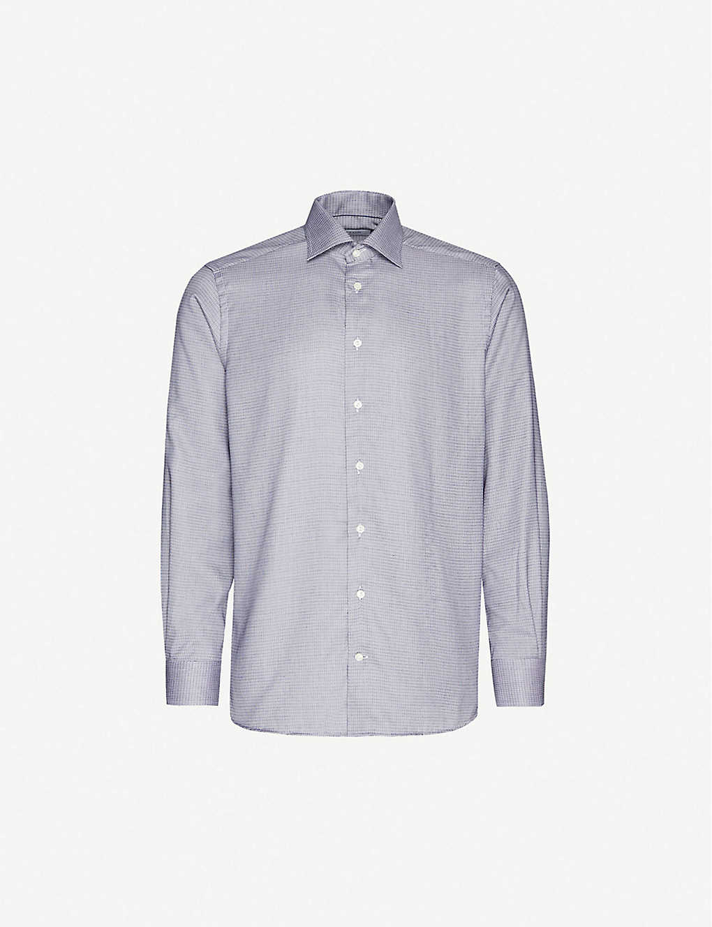ETON: Dobby contemporary-fit cotton and lyocell-blend shirt