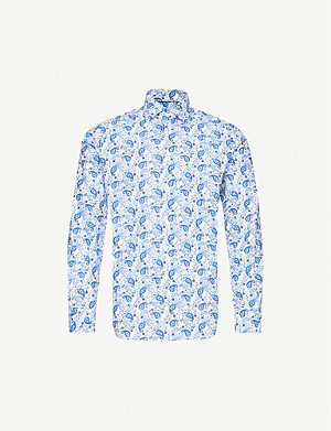 ETON Paisley-print slim-fit cotton shirt