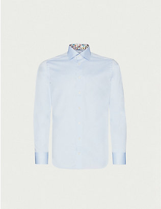 ETON: Slim-fit cotton-poplin shirt
