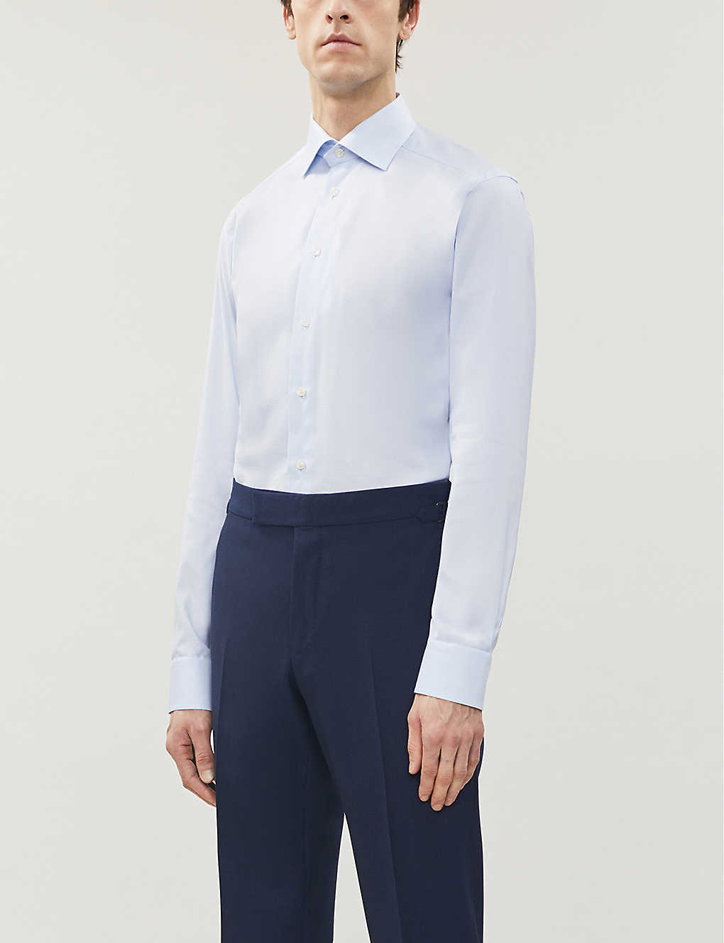 ETON: Dobby slim-fit cotton and lyocell-blend shirt