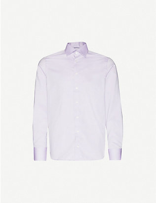ETON: Herringbone contemporary-fit cotton shirt
