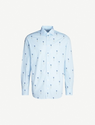 ETON Floral-print regular-fit cotton shirt
