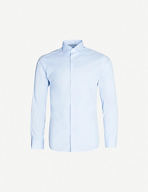 ETON Slim-fit cotton-poplin shirt