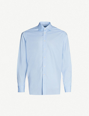 ETON Super slim-fit cotton-poplin shirt