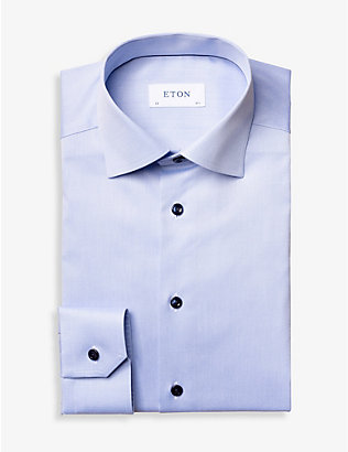 ETON: Signature Twill slim-fit cotton shirt