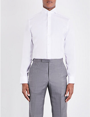 ETON: Slim-fit single-cuff cotton-twill shirt