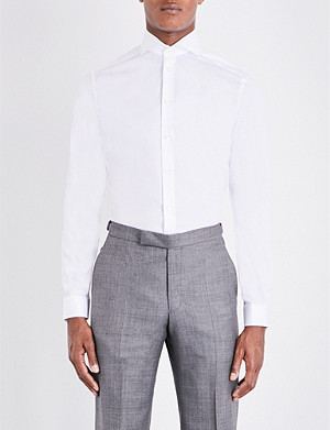 ETON Super slim-fit single-cuff cotton shirt