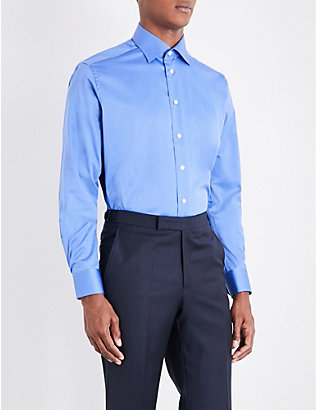ETON: Contemporary-fit cotton-twill shirt