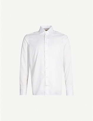 ETON: Contemporary-fit double-cuff cotton shirt