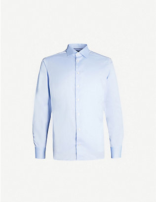 ETON: Slim-fit cotton-twill shirt