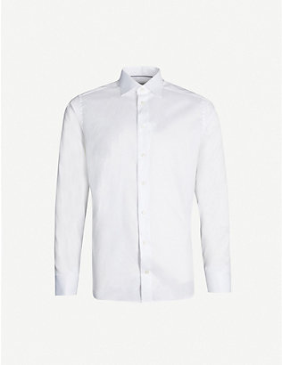 ETON: Slim-fit French-cuff cotton-twill shirt