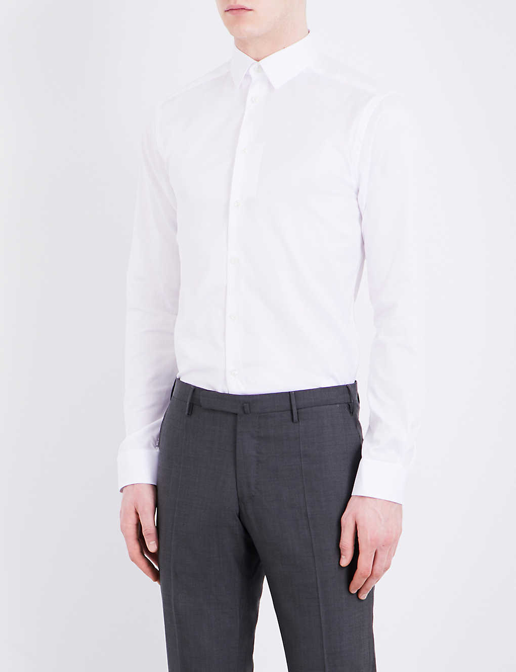 ETON: Super slim-fit cotton-twill shirt