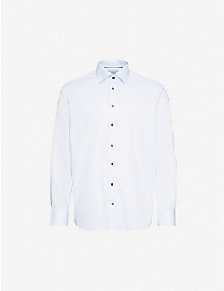ETON: Contemporary-fit cotton-poplin shirt