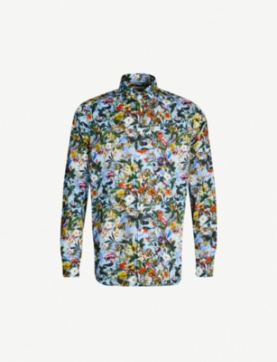 ETON Printed contemporary-fit cotton shirt