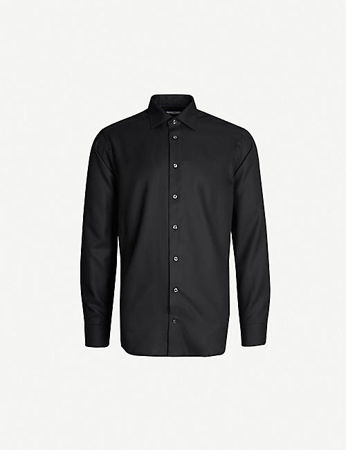 JARRE Slim-fit cotton-twill shirt