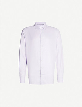 ETON: Herringbone slim-fit cotton shirt