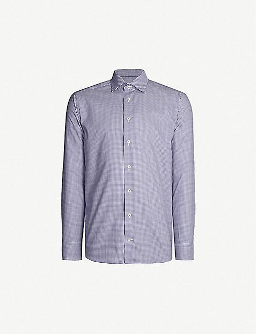 1b58f19f989 ETON Checked slim-fit cotton shirt