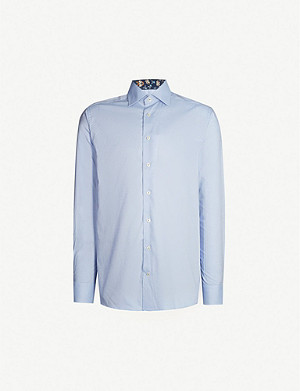 ETON Slim-fit cotton-twill shirt
