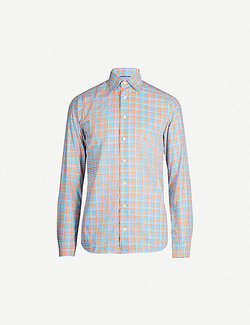 ETON Slim-fit check cotton-twill shirt