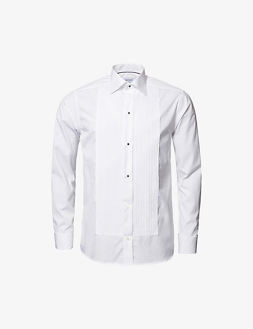 ETON: Slim-fit double-cuff cotton shirt