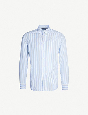 ETON Striped slim-fit cotton shirt
