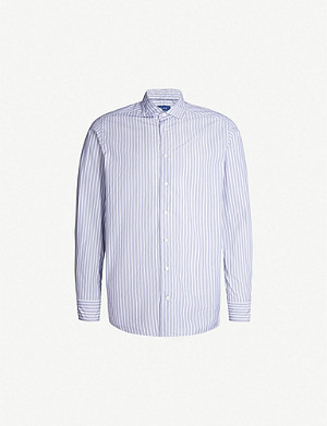 ETON Striped contemporary-fit cotton shirt