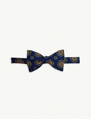 JARRE Floral medallion wool bow tie