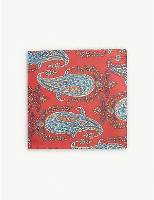 ETON: Paisley silk pocket square