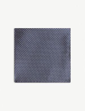 ETON Polka-dot silk pocket square