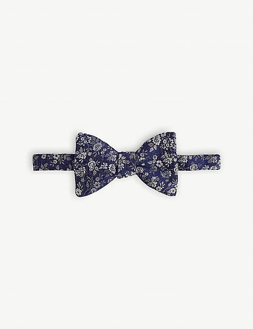 ETON Floral silk self-tied bow tie