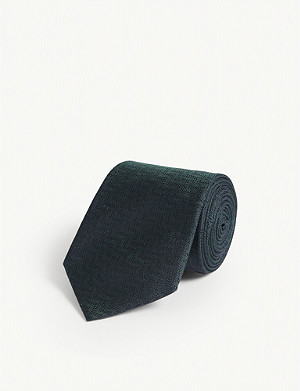 ETON Zig-zag patterned silk tie