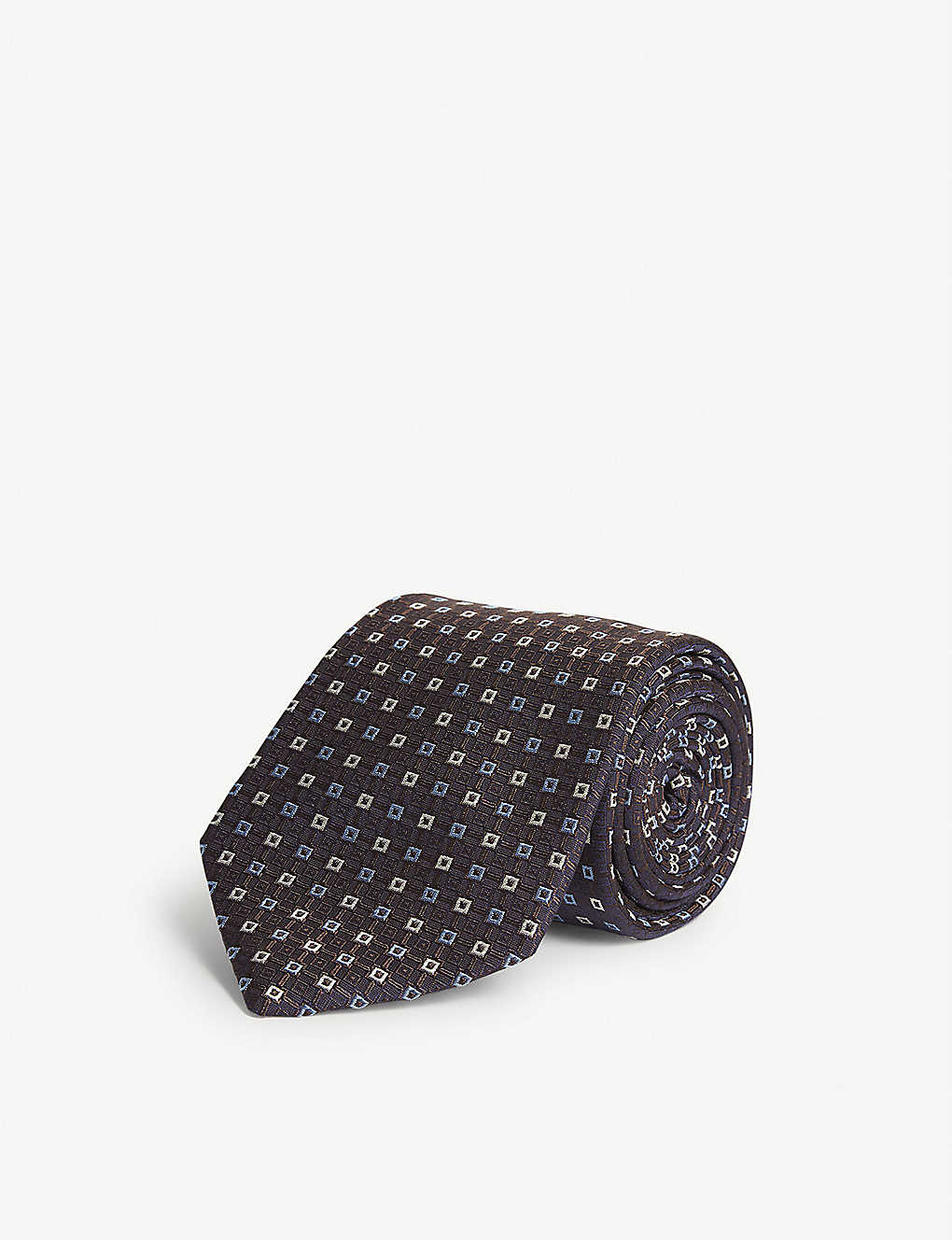 ETON: Square pattern silk tie