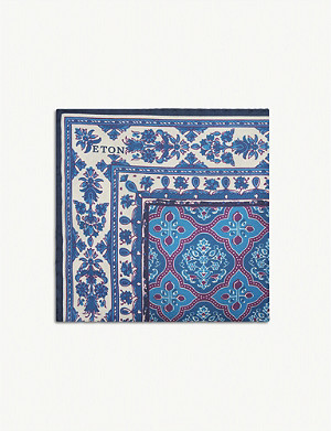 ETON Paisley print pocket square
