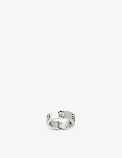 CARTIER LOVE 18ct white-gold and diamond ring