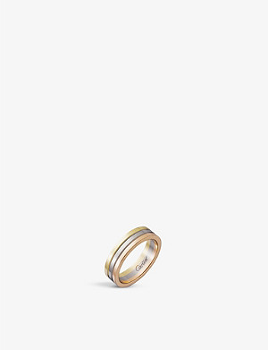 CARTIER Trinity 18k white gold, yellow gold and rose gold wedding ring