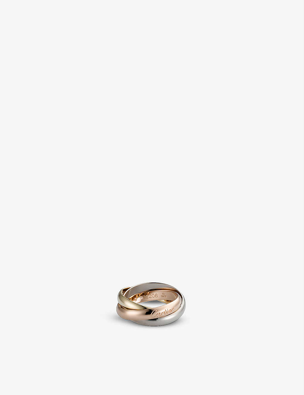 Trinity De Cartier 18ct White Gold Yellow Gold And Pink Gold Medium Ring
