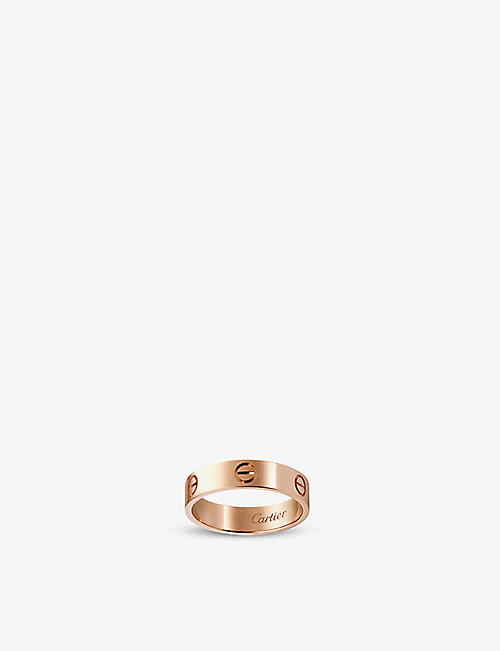 CARTIER LOVE 18ct pink-gold ring