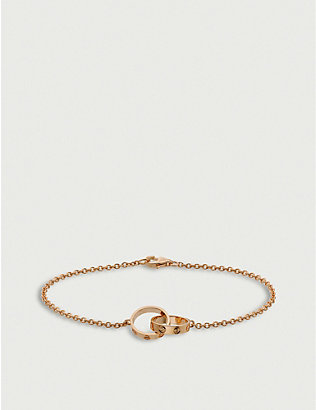 CARTIER: LOVE 18ct rose-gold bracelet