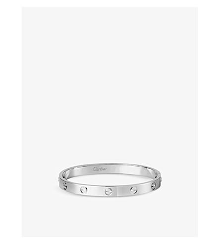 CARTIER LOVE 18ct white-gold bracelet