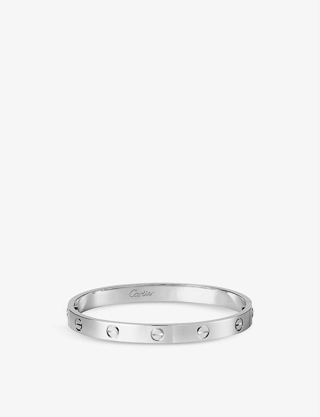 CARTIER: LOVE 18ct white-gold bracelet
